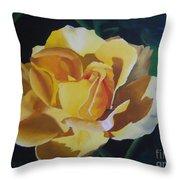 Golden Showers Rose Throw Pillow