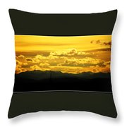 Golden Skies Throw Pillow