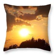 Golden Sky Over Genesee Throw Pillow