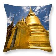 Golden Stupa In Grand Palace Bangkok Throw Pillow