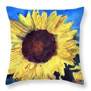 Golden Sunflower Throw Pillow