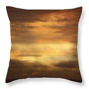 Golden Sunrise Squared Throw Pillow