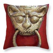 Golden Temple Door Knocker  Throw Pillow