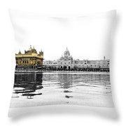 Golden Temple India Throw Pillow