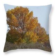 Golden Tree II Throw Pillow