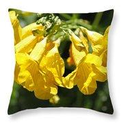 Golden Trumpets Throw Pillow