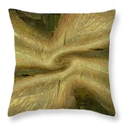 Golden Tug Of War Throw Pillow