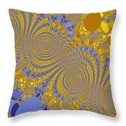 Golden Vortices Throw Pillow