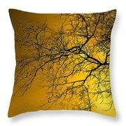Golden Walnut Tree Throw Pillow