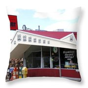 Goldie's Route 66 Diner  Throw Pillow