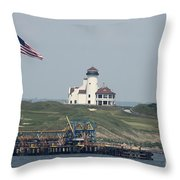 Golf At The Hudson Throw Pillow