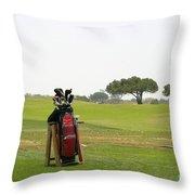 Golf Bag Throw Pillow