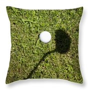 Golf Ball And Shadow Throw Pillow