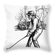 Golf, C1920 Throw Pillow
