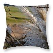 Golf Course Grasses Throw Pillow