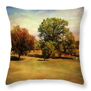 Golf Course II Throw Pillow
