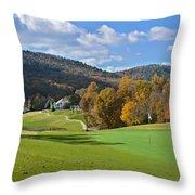 Golf Course In Autumn Throw Pillow