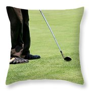 Golf Feet Throw Pillow