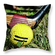 Golf - Tee Time With A 3 Iron Throw Pillow