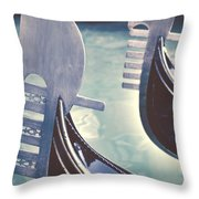 gondolas - Venice Throw Pillow by Joana Kruse