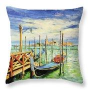 Gondolla Venice Throw Pillow