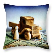 Gone Truckin Throw Pillow
