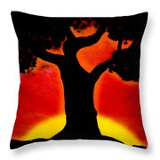 Gone With The Sunset Throw Pillow