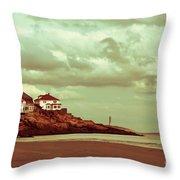 Good Harbor Beach Throw Pillow