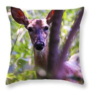 Good Looking Lady Throw Pillow