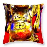 Good Luck At The Gold Coast Throw Pillow