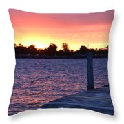 Good Morning From Marysville Michigan Usa Throw Pillow