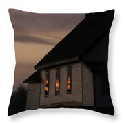 Good Morning Little Schoolhouse Throw Pillow