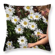 Good Morning Sunshine Throw Pillow by Methune Hively