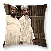 Good Old Friends Throw Pillow