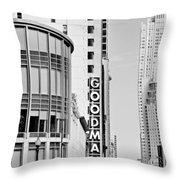 Goodman Theatre Center Chicago Throw Pillow