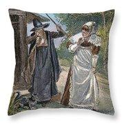 Goodwife Walford, 1692 Throw Pillow