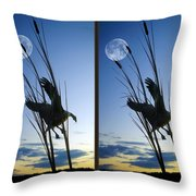 Goose At Dusk - Cross Your Eyes And Focus On The Middle Image Throw Pillow