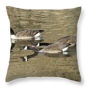 Goose Giving A Warning Throw Pillow