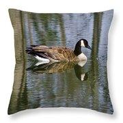 Goose Reflections Throw Pillow