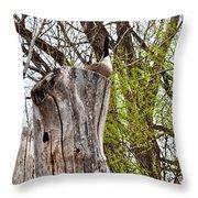 Goose Tree Throw Pillow