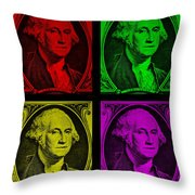 Gorge Washington In Colors Throw Pillow