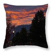 Gorgeous Sunrise On G Street Throw Pillow
