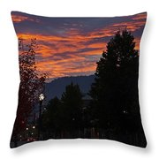 Gorgeous Sunrise On G Street Throw Pillow