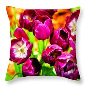 Gorgeous Tulips Throw Pillow