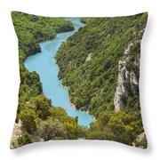 Gorges Du Verdon Throw Pillow