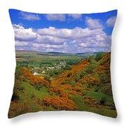 Gortin Valley, Co Tyrone, Ireland Throw Pillow