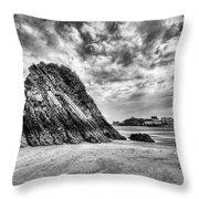 Goscar Rock Tenby 2 Mono Throw Pillow