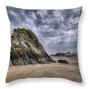 Goscar Rock Tenby 2 Throw Pillow