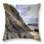 Goscar Rock Tenby 3 Throw Pillow