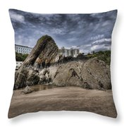 Goscar Rock Tenby 4 Throw Pillow
